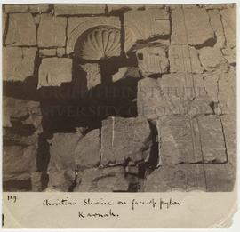 [199] Christian Shrine on face of pylon Karnak.