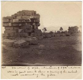 [495] S.W. corner of W. pile; with enclosure of E. pile in distance.