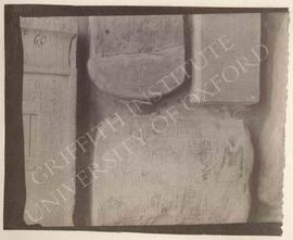 [Left] False door of Kausut, Old Kingdom, provenance not known, now in Florence, Museo Archeologi...