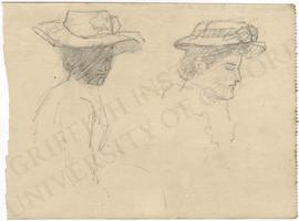 Two studies of women in hats