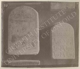 [Left] Stela of Iyu and his family, late Dyn. XII or Dyn. XIII, provenance not known, now in Flor...