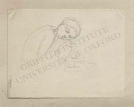Crouched putto sleeping