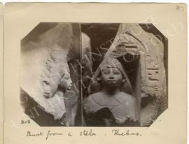 [808] Bust from a stela. Thebes