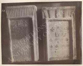 [Left] Stela of Nehy, Dyn. XIII, provenance not known, now in Florence, Museo Archeologico, 2561;...