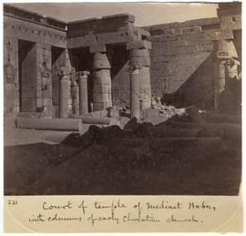 [231] Court of temple of Medinet Habu