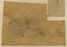 Italy, Casinum (Cassino), reconstruction of Varro's aviary, and chair