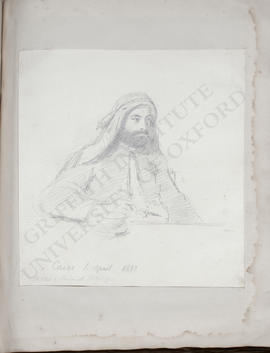 Cairo, portrait of George Lloyd sketched by Prince Alexis Soltykoff