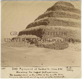 [485] Step pyramid of Sakkara, from S.W.