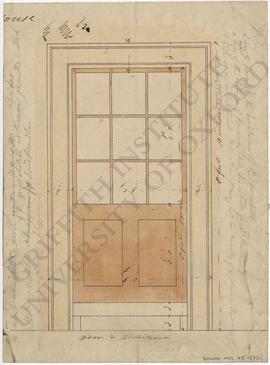 Door and architrave design, with measurements