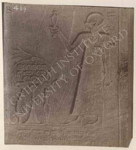 Stela of Ahmosi, year 22 (of Ptolemy V Epiphanes), provenance not known, now in Bologna, Museo Ci...