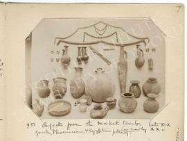 [951] Objects from the Maket tomb. Late XIX or early XX.