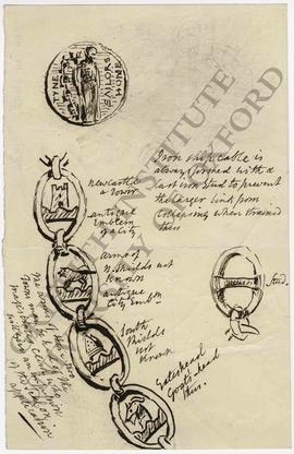 Design for Tyne Sailors' Home medal and chain