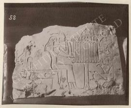 Stela of the woman Wetet-heses[t]? before offerings, dedicated by her eldest son Shepsipumin, mid...