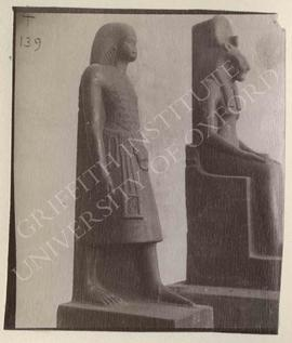 [Left] Statue of Anen, temp. Amenophis III, From Karnak, Temple M, now in Turin, Museo Egizio, Ca...