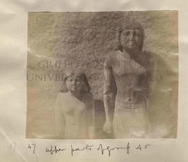 47 - Upper parts of group 45 [Nenkheftka and his wife]