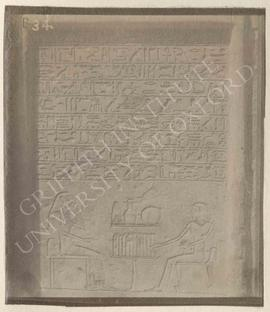Stela of Soneb, Dyn. XII, provenance not known, now in Bologna, Museo Civico Archeologico, 1903