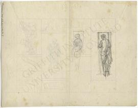 Two sketches of women by window