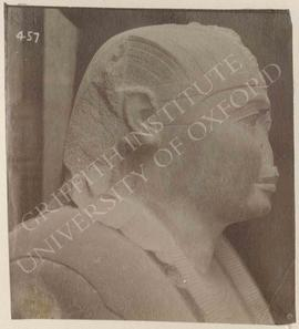Sphinx of Amasis, basalt, probably from Sais, found in Rome, Iseum, now in Rome, Museo Capitolino...