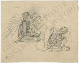 Angel and three other figures kneeling