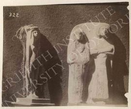 [Left] Female figurine, not identified, now in Bologna, Museo Civico Archeologico; [right] double...