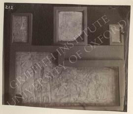 [Upper left] Block with text, not identified, now in Bologna, Museo Civico Archeologico; [upper m...