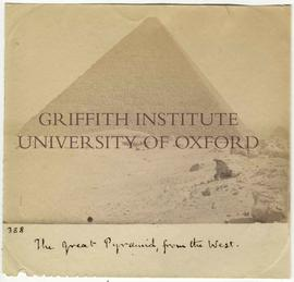 [388] The great Pyramid, from the West.