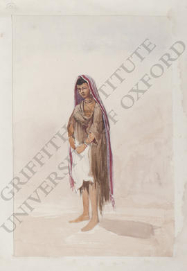 Egypt, portrait of a young woman holding two cockerels