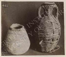[Left] Vase of Penshenabu (Theban Tomb 322), pottery, from Deir el-Medina, now in Turin, Museo Eg...