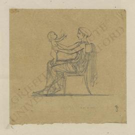 Seated female figure with nude child on her lap