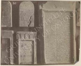 [Upper left] Stela of Tetiankh, Dyn. XVIII, from Thebes, now in Florence, Museo Archeologico, 637...