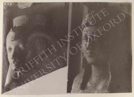 [Left] Head of a Queen, not identified, now in Florence, Museo Archeologico; [right] upper part o...