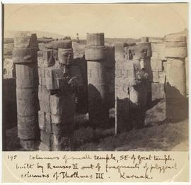 [195] Columns of small temple, S.E. of great temple.