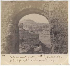 [203] Arch in building at mouth of El Assassif.