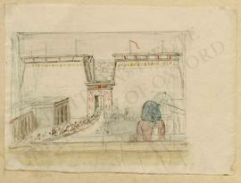 Egypt. Thebes. Temple with a festival procession (reconstructed view)