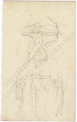 Sketches of archer and lyre player