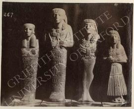 Four ushabtis, stone, not identified, now in Florence, Museo Archeologico
