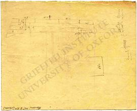 Wall with measurements, perhaps of Tomb G 5210 at Giza (Bonomi MSS 3.24 (recto))